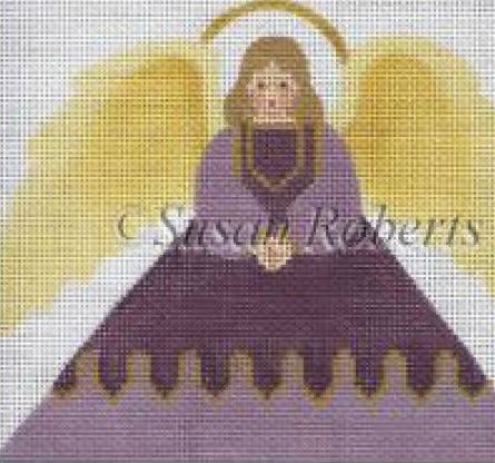 click here to view larger image of Angel 2 Tissue Roll Ornament    (hand painted canvases)