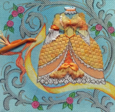 click here to view larger image of Princess Rose/Gold Dress (hand painted canvases)
