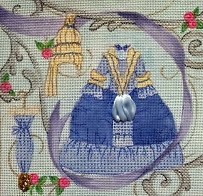 click here to view larger image of Princess Bue Dress (hand painted canvases)