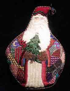 click here to view larger image of Victorian Santa (hand painted canvases)
