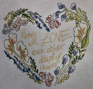 click here to view larger image of Above All Love (hand painted canvases)