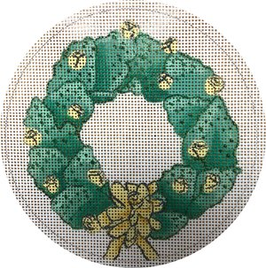 click here to view larger image of Cactus Wreath (hand painted canvases)