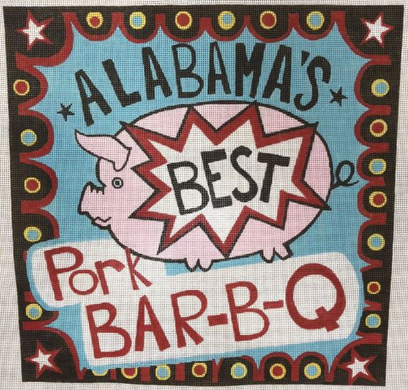 click here to view larger image of Alabamas BBQ (hand painted canvases)