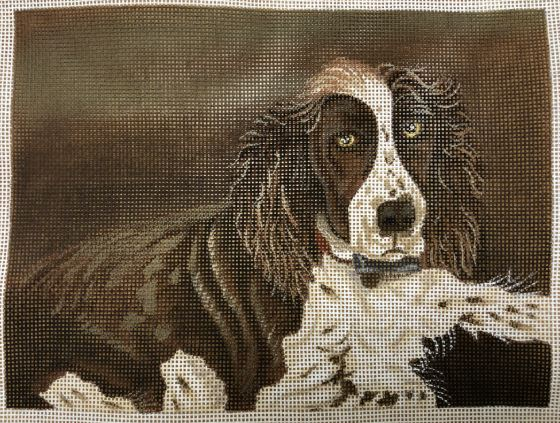 click here to view larger image of Spaniel - Laying (hand painted canvases)