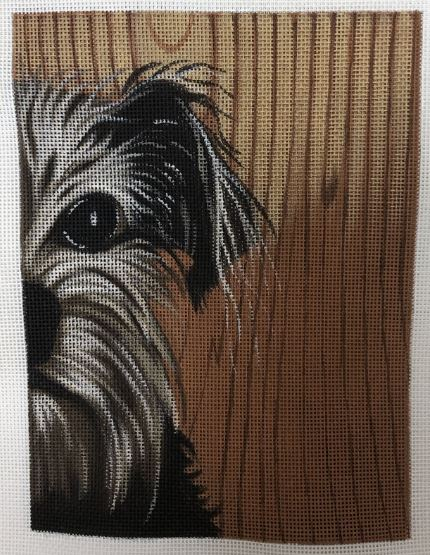 click here to view larger image of Schnauzer Face (hand painted canvases)
