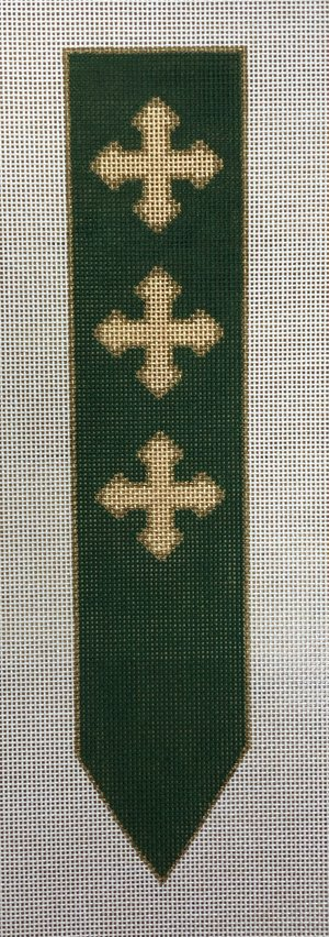 click here to view larger image of Bookmark - Green (hand painted canvases)
