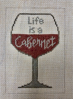 click here to view larger image of Life is a Cabernet (hand painted canvases)
