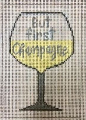 click here to view larger image of But First Champagne (hand painted canvases)