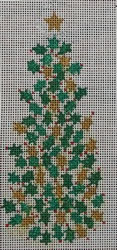 click here to view larger image of Gold/Green Holly Tree Sign (hand painted canvases)
