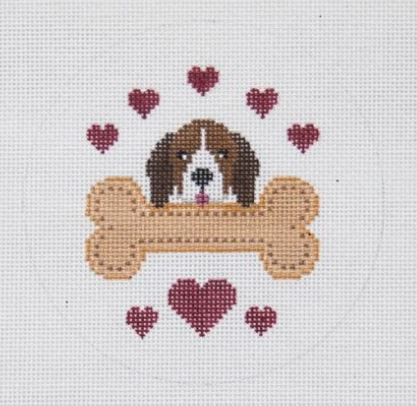 click here to view larger image of Beagle Loves His Bone (hand painted canvases)