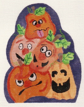 click here to view larger image of Pumpkin Heads, The (hand painted canvases)