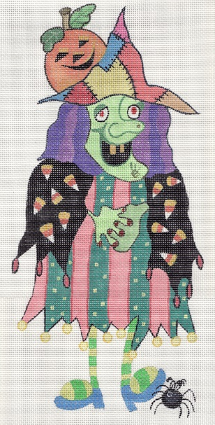 click here to view larger image of Patches the Witch (hand painted canvases)