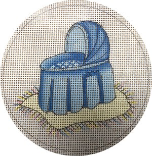 click here to view larger image of Blue Bassinet (hand painted canvases)