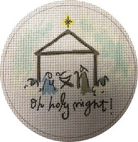 click here to view larger image of Oh Holy Night Manger (hand painted canvases)