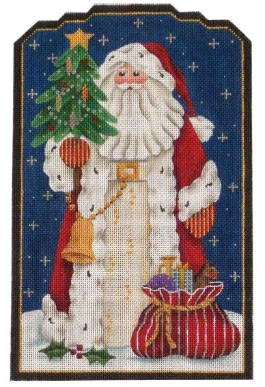 click here to view larger image of Old World Santa (hand painted canvases)
