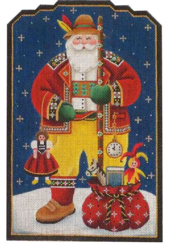 click here to view larger image of Swiss Santa (hand painted canvases)