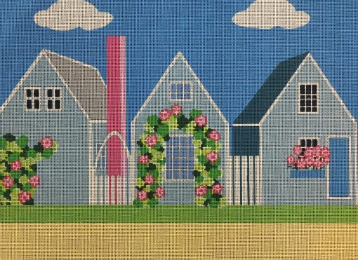 click here to view larger image of Cape Cod Cottages (hand painted canvases)