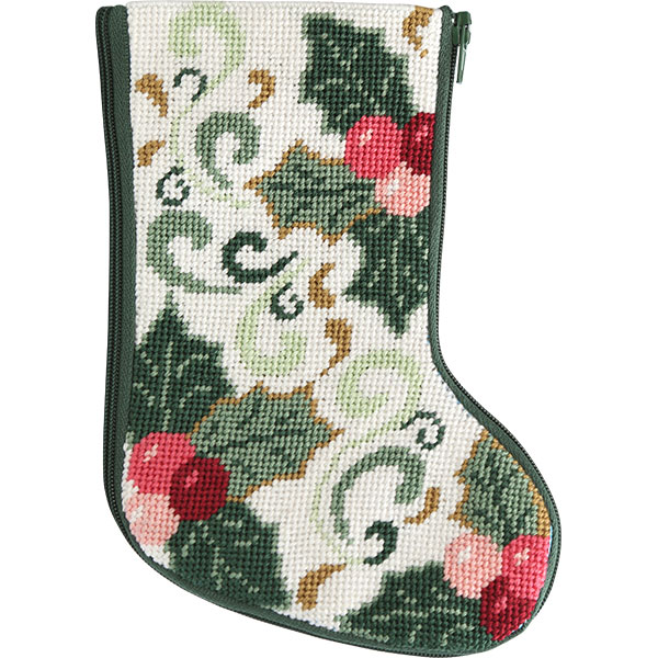 click here to view larger image of Della Robbia Mini Stocking Stitch and Zip  (needlepoint kits)
