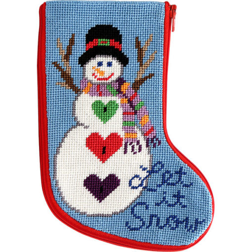 click here to view larger image of Let It Snow Mini Stocking Stitch and Zip  (needlepoint kits)
