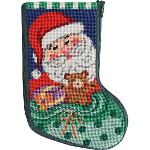 click here to view larger image of Santa and Toys Mini Stocking Stitch and Zip  (needlepoint kits)