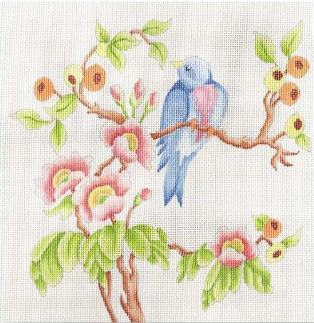 click here to view larger image of Bird and Flowers (hand painted canvases)