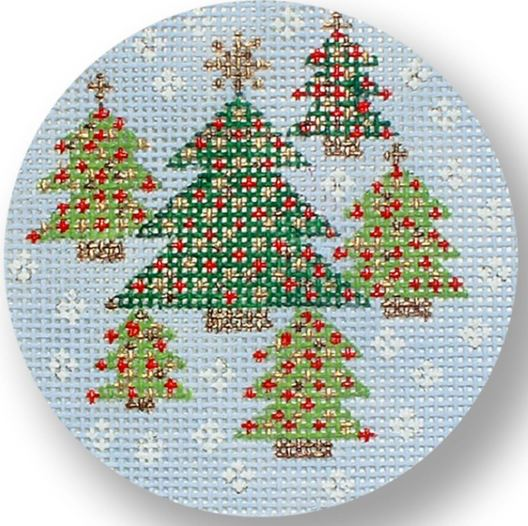 click here to view larger image of Christmas Trees (hand painted canvases)