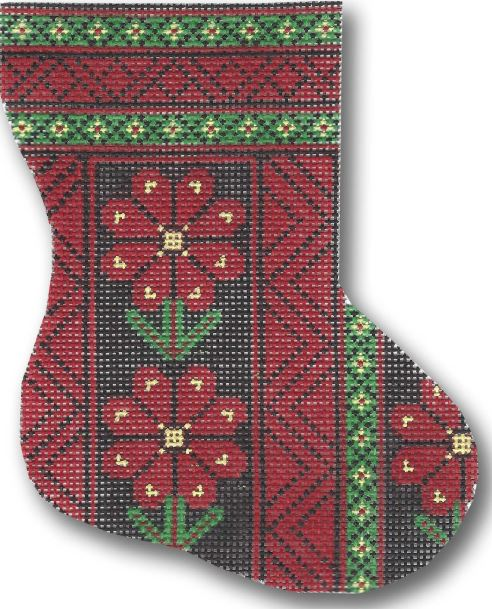 click here to view larger image of Afghan Mini Stocking (hand painted canvases)