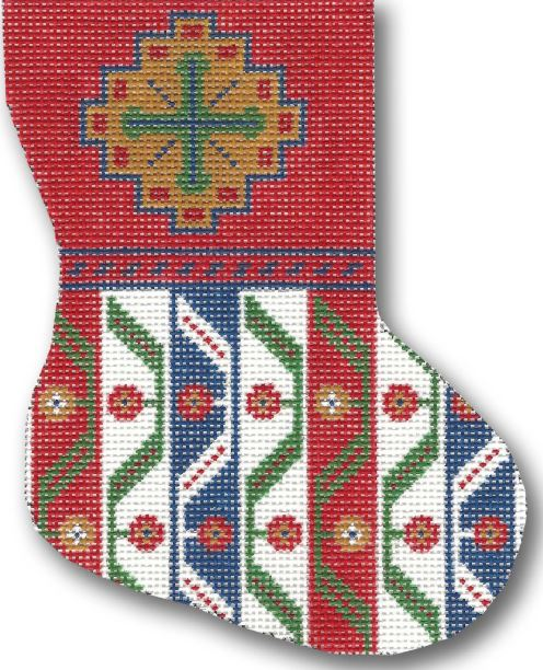 click here to view larger image of Khamseh Mini Stocking (hand painted canvases)