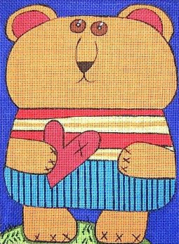 click here to view larger image of Bear in Love (hand painted canvases)