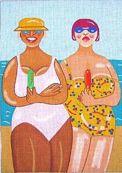 click here to view larger image of 2 Beach Friends (hand painted canvases)