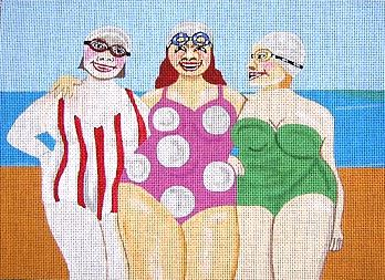click here to view larger image of 3 Beach Friends (hand painted canvases)