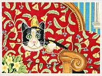 click here to view larger image of Couch Cat (hand painted canvases)