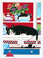 click here to view larger image of Kitchen Cats (hand painted canvases)
