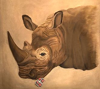 click here to view larger image of Rhino (hand painted canvases)