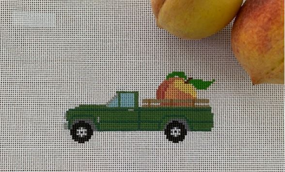 click here to view larger image of Peach Truck (hand painted canvases)