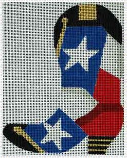 click here to view larger image of Texas Flag Boot  (hand painted canvases)
