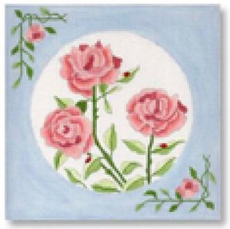 click here to view larger image of Pink Roses (hand painted canvases)