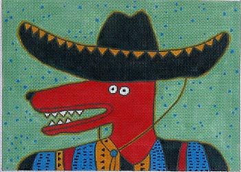 click here to view larger image of Sombrero Dog (hand painted canvases)