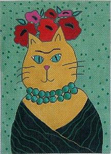 click here to view larger image of Frida Cat (hand painted canvases)