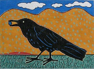 click here to view larger image of Black Bird (hand painted canvases)