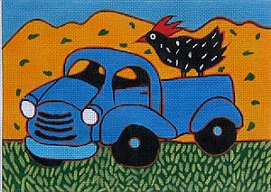 click here to view larger image of Blue Truck (hand painted canvases)