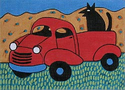 click here to view larger image of Red Truck (hand painted canvases)