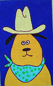 click here to view larger image of Cowboy Dog (hand painted canvases)