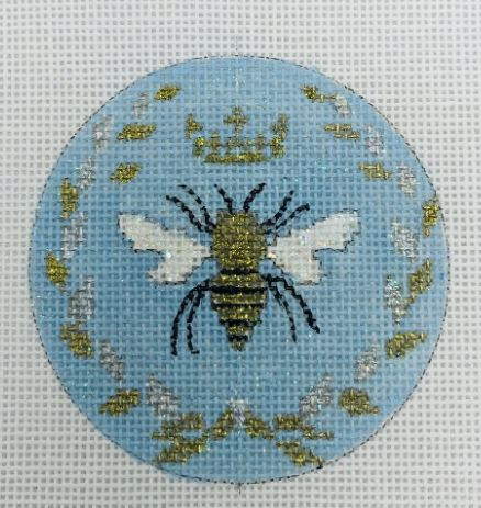 click here to view larger image of Bee - Blue (hand painted canvases)