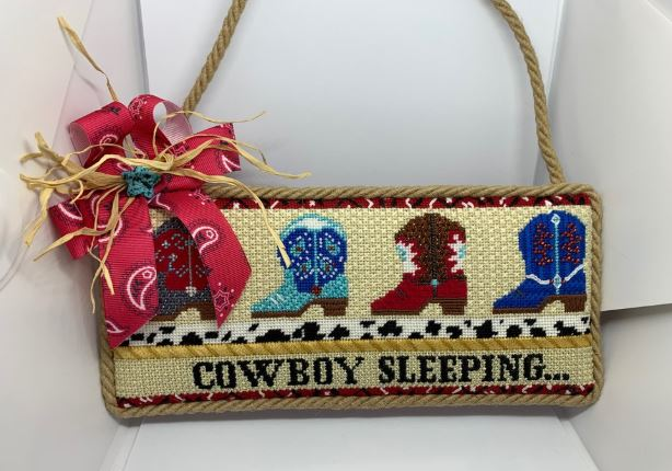 click here to view larger image of Cowboy Sleeping (hand painted canvases)