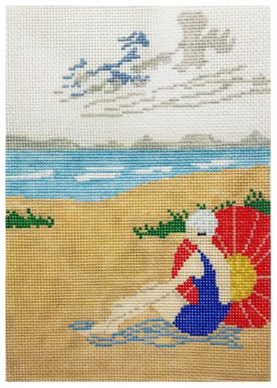 click here to view larger image of Beach Lady (hand painted canvases)