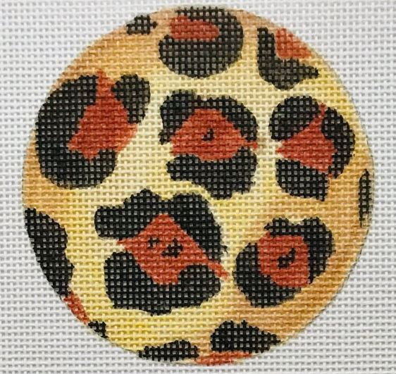 click here to view larger image of Leopard Round (hand painted canvases)
