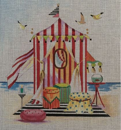 click here to view larger image of Beach Tent (hand painted canvases)