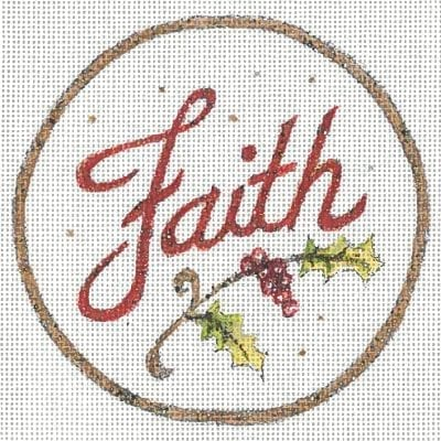 click here to view larger image of Faith Ornament  (hand painted canvases)