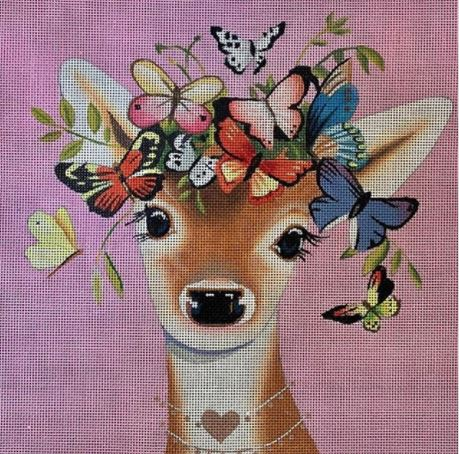 Deer w/Butterflies - click here for more details